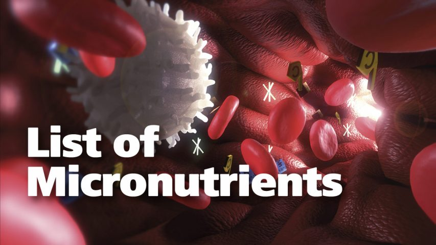 List of Micronutrients