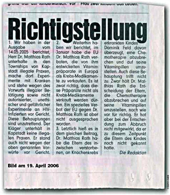 bild zeitung 2006