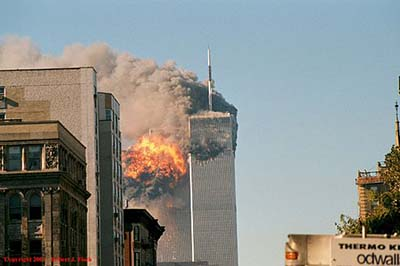 The events in New York on September 11, 2001 changed everything for Bayer. Author: Robert from New York, USA